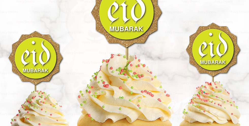Eid Mubarak + Star (Pack of 10pcs)