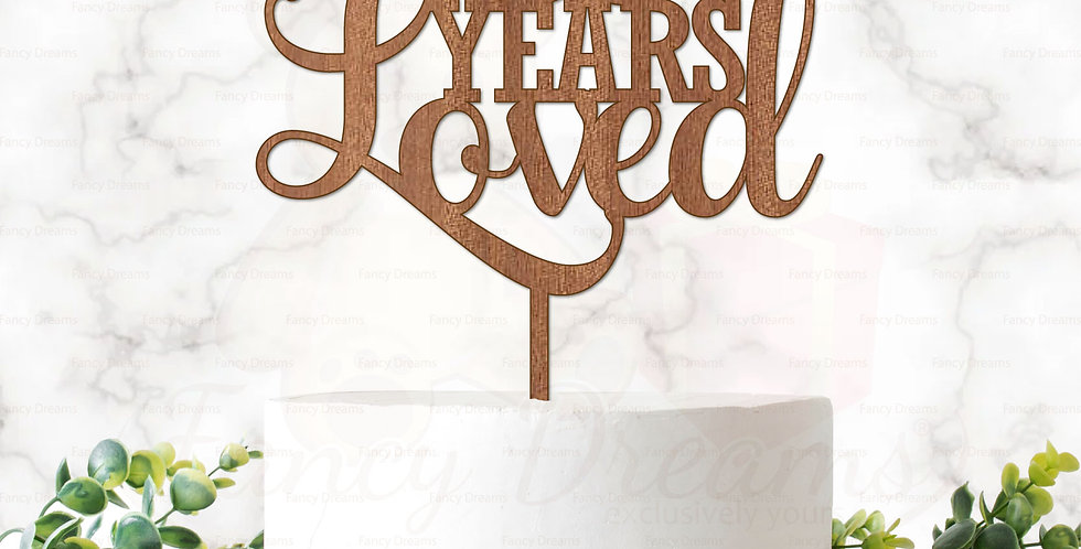 18, 25, 30, 50, 60, 80,100 Years Loved