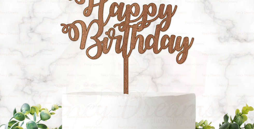 Happy Birthday (Fancy Font)