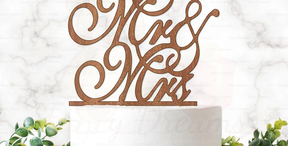Mr & Mrs (Fancy Font)