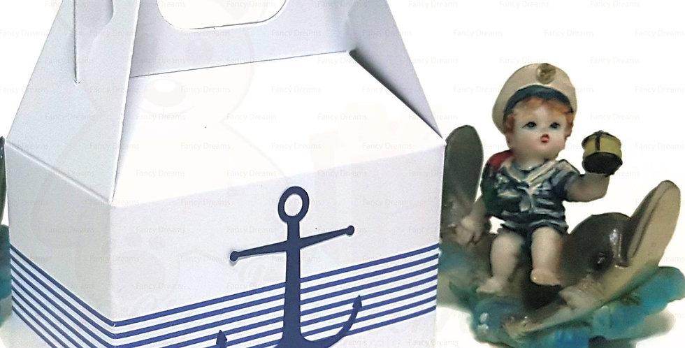 Nautical Theme Give-Away Gable Box (10pcs)