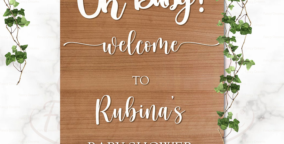 Oh Baby! Welcome Board - 3D Premium