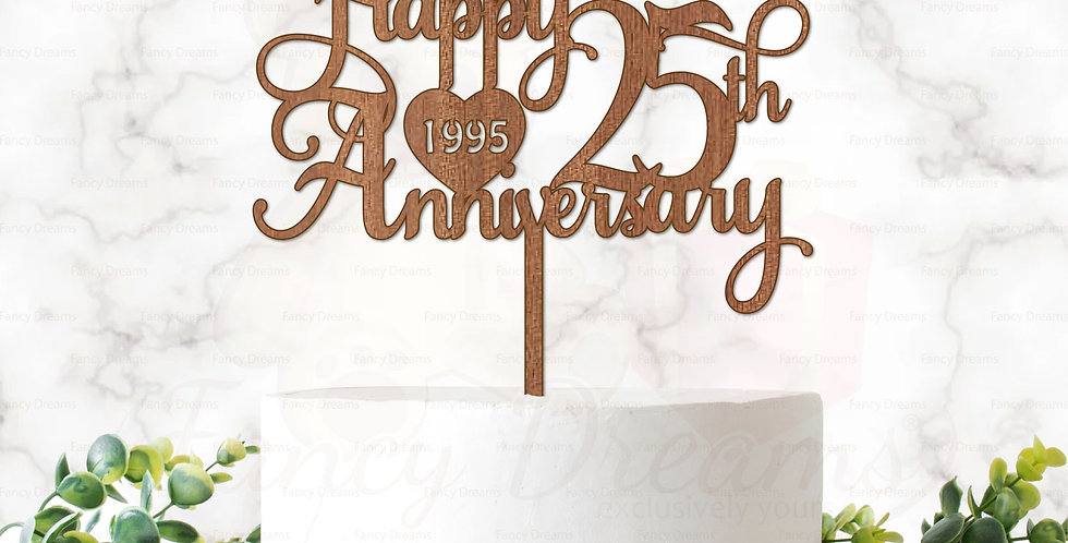Happy 25th, 30th, 35th, 40th, 45th, 50th, 55th, 60th, 65th Anniversary + Year