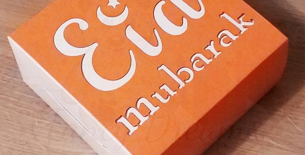 Eid Mubarak Cake Box (10pcs)