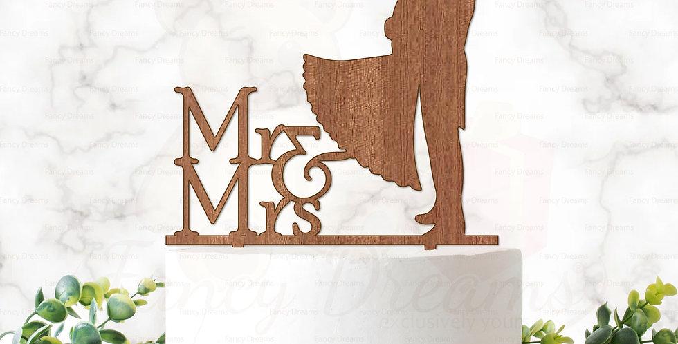 Mr & Mrs + Groom Lifting Bride + Bouquet