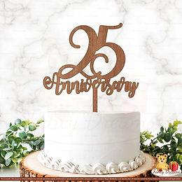 25, 30, 35, 40, 45, 50, 55, 60 Anniversary