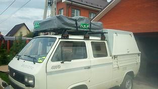 палатка на крышу авто