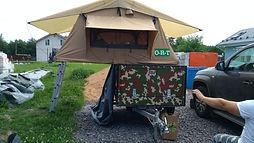 палатка на прицеп