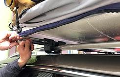 крепление палатки на рейлинги