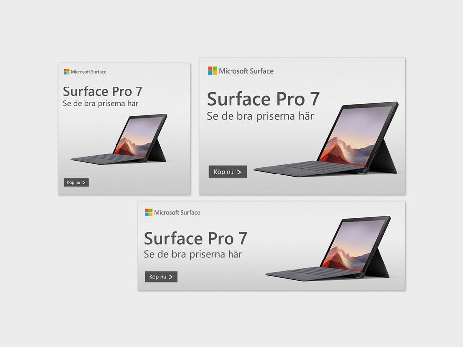 Surface banners