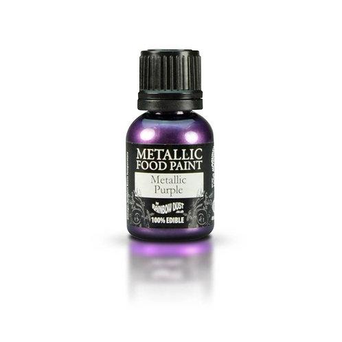 Pearlescent Purple Metallic food paint -Rainbow dust