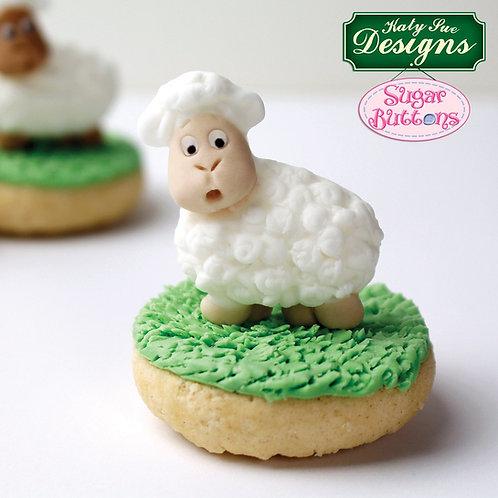Little Lamb Sugar Buttons Mould