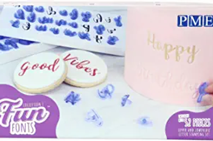 PME Letter Stamping Set/Fun fonts