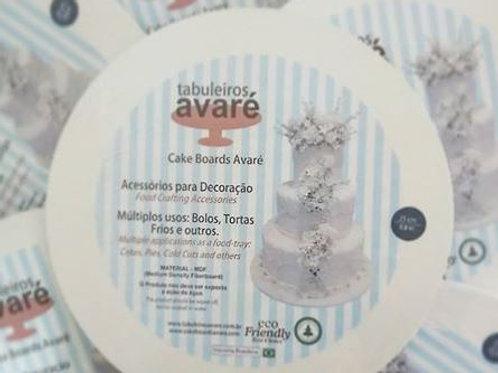 "35x35"" Tabuleiros Avare cake boards"