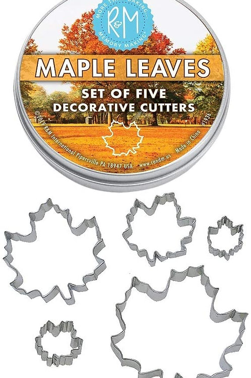 Maple Leaf Cookie Cutters, Assorted Sizes, 5-Piece Set