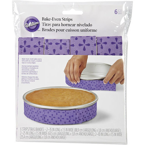 WILTON 6 PIECE BAKE-EVEN STRIP SET