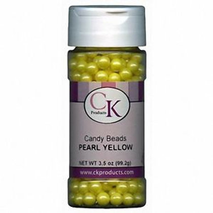 CANDY BEADS PEARLS YELLOW