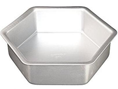 "Fat Daddio's Anodized Aluminum Hexagon Cake Pan 10x2"""