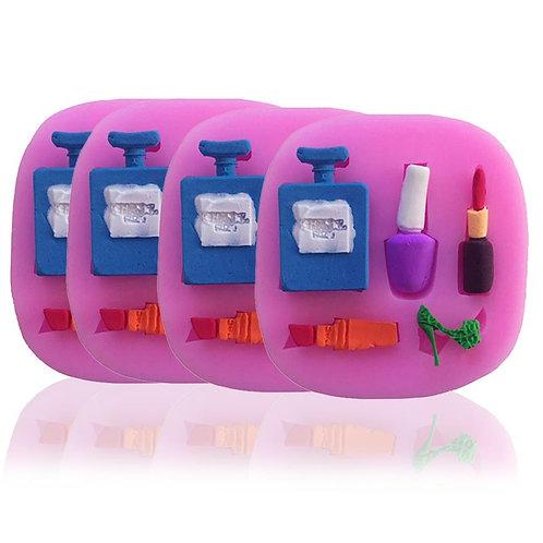 Fondant Silicone Mold Perfume Bottles Lipstick Fondant Cake Mold