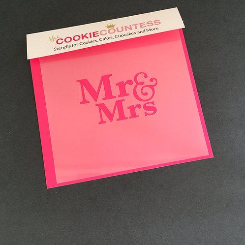 THE COOKIECOUNTESS - WEDDING STENCIL