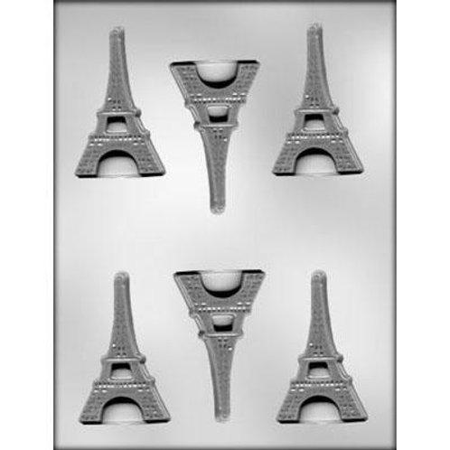 "FLAT EIFFEL TOWER CHOCOLATE MOLD 3"""