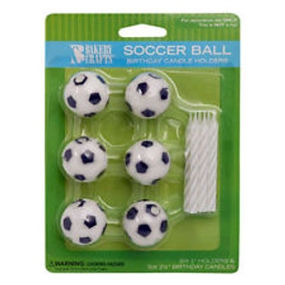 SOCCER BALL BIRTHDAY CANDLE HOLDERS
