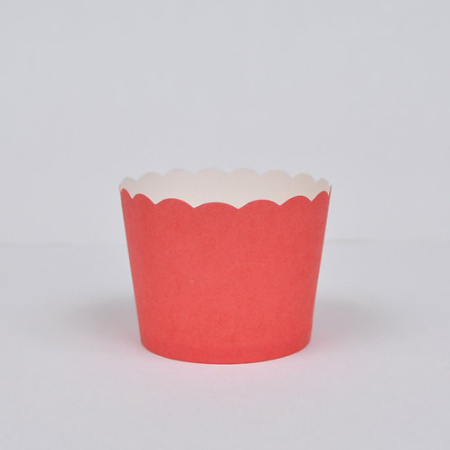 BAKE IN CUPS-Small red Vertical Stripes
