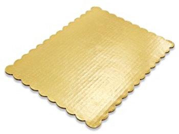 1/4 SHEET GOLD SCALLOPED