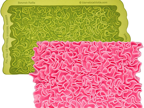 Marvelous mold Scrunch Ruffle Simpress Silicone Mold