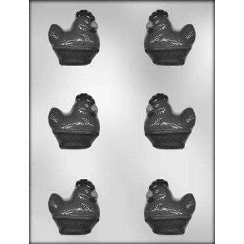 """HEN/BASKET 2-1/8"""" 3D CHOCOLATE MOLD"""