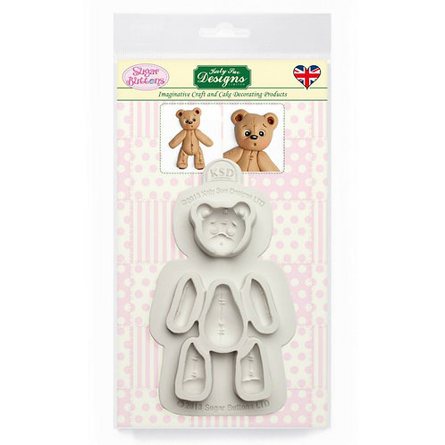 Stitched Teddy Bear Sugar Buttons Mould