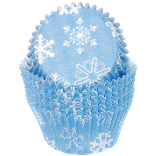 SNOWFLAKES STANDARD CUPCAKE  LINERS
