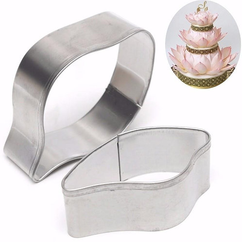 2pcs set Lily Stainless Steel Cookie Cutter Cake Mold Tool