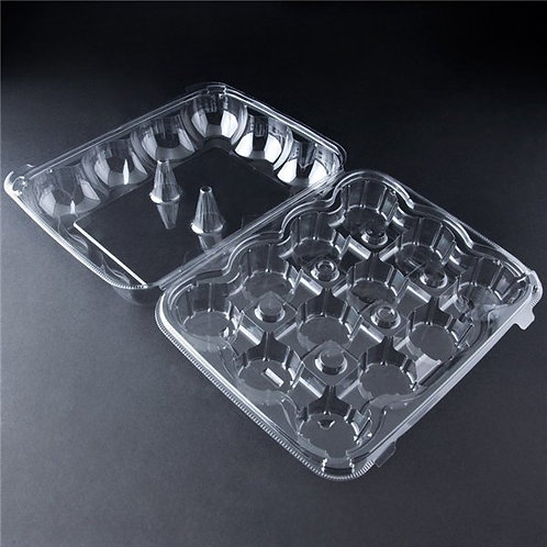 12 CAVITY CUPCAKE/MUFFIN PLASTIC CONTAINER