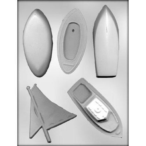 BOAT ASSORTMENT 3D CHOCOLATE MOLD