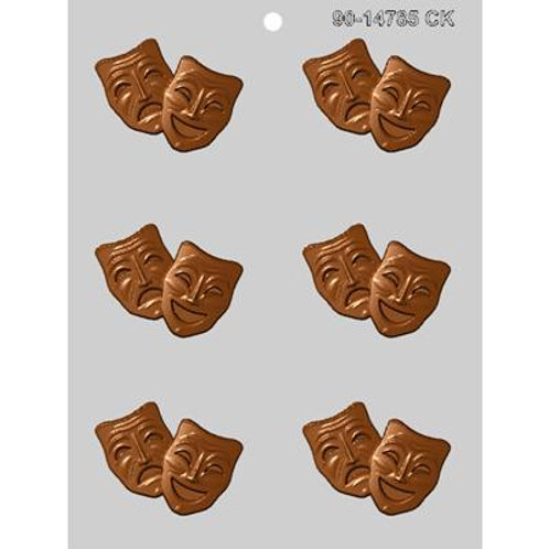 COMEDY-TRAGEDY MASK CHOCOLATE MOLD