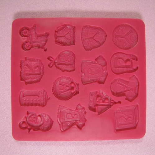 BABY SHOWER SILICONE MOLD