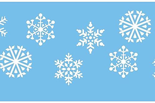 JEM Snowflakes Stencil, Blue