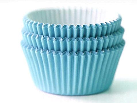 BLUE MINI CUPCAKE LINERS