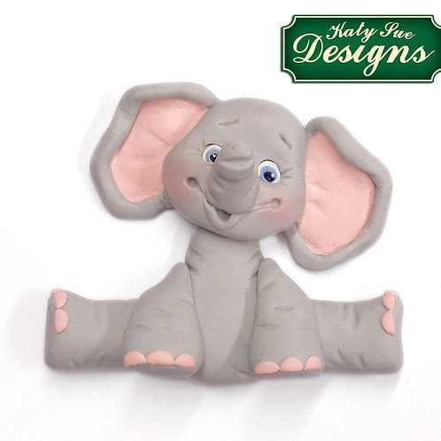 Baby Elephant Sugar Buttons Silicone Mould