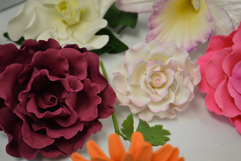 Gum paste Flowers Class/Flores en Pastillaje