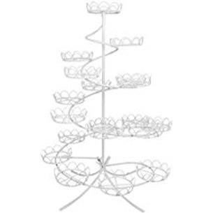 White Coated Wire Cupcake Stand