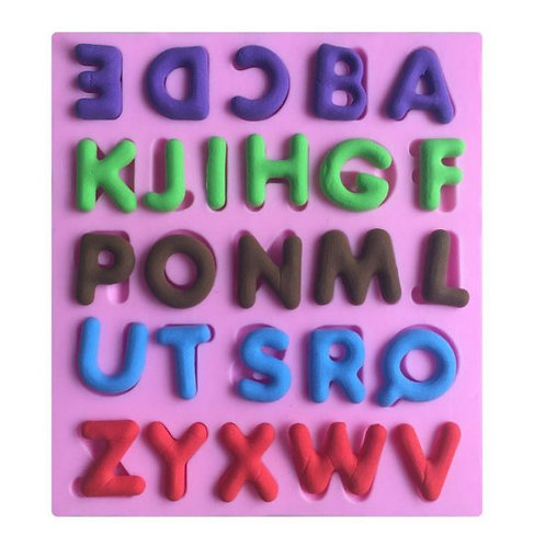 """A-Z"" 26 English Letters Alphabet Silicone Fondant Mold Cake"