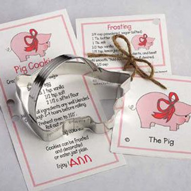 THE PIG COOKIE AND FONDANT CUTTER