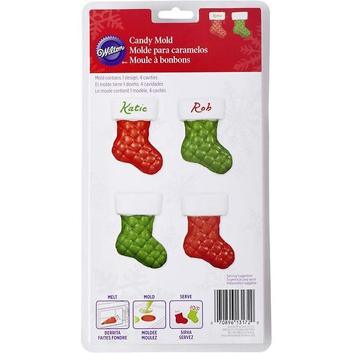 WILTON MINI QUILTED STOCKING CANDY MOLD