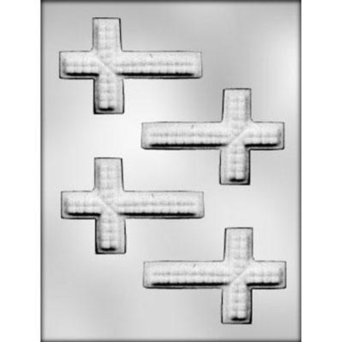 "TEXTURED CROSS 3¾"" CHOCOLATE MOLD"