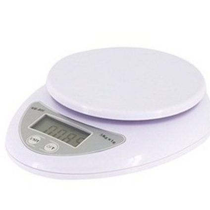WH-B05 Electronic Digital Kitchen Scale 5000g / 1g ,White
