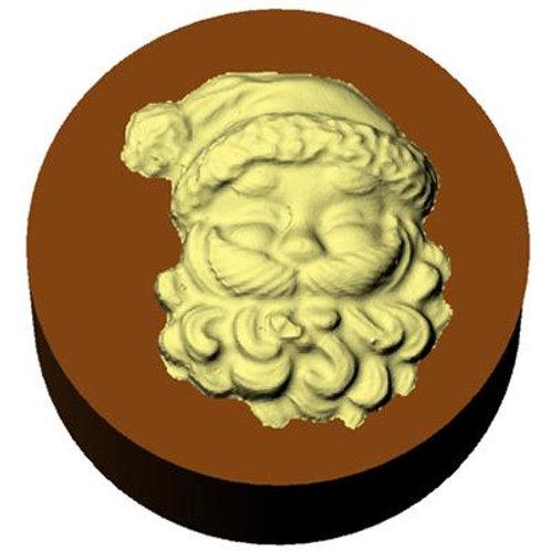 SANTA FACE ROUND SANDWICH COOKIE CHOCOLATE MOLD