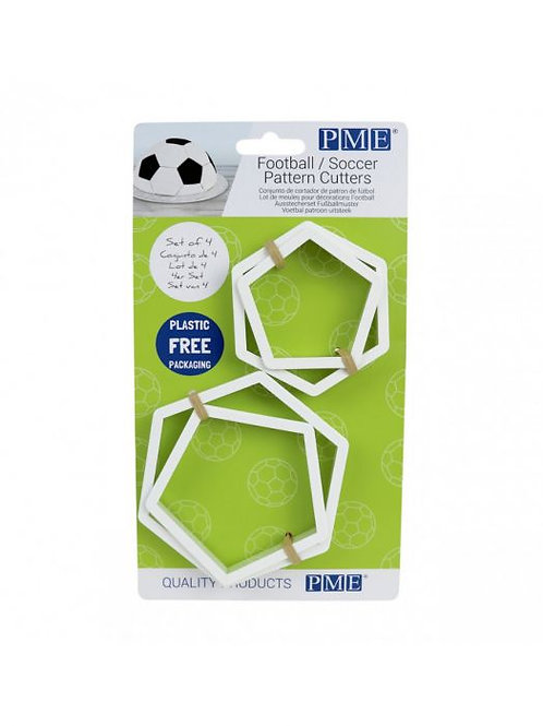 Soccer Ball Pattern Fondant Cutter Set By PME