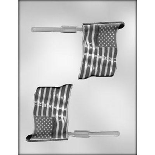"FLAG 3½"" SUCKER CHOCOLATE MOLD Product #90-14426"